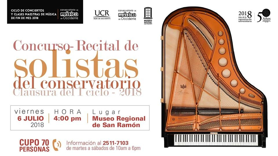 Concurso: Recital de solistas del conservatorio, Piano