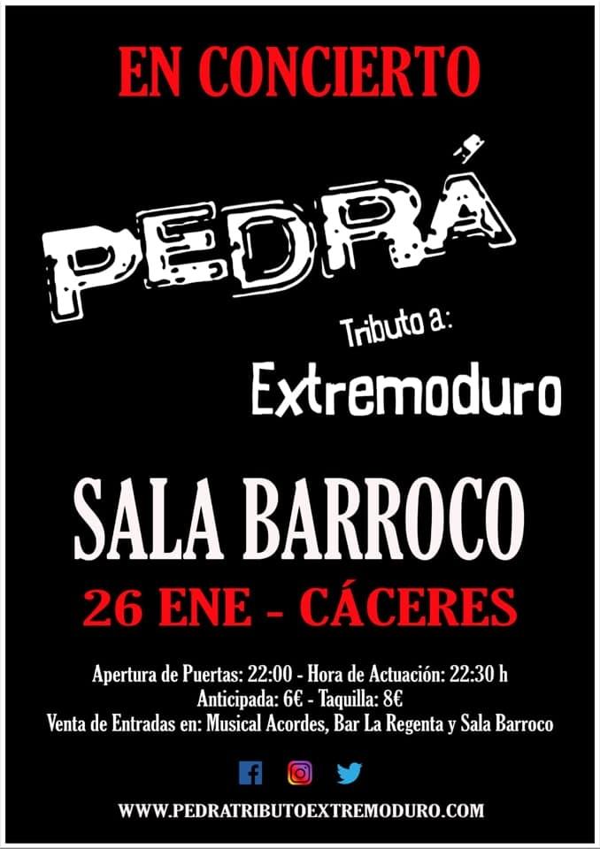 Concierto tributo a Extremoduro | Pedrá | Sala Barroco