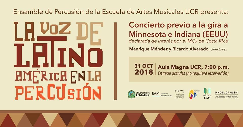 La voz de Latinoamérica en la percusión. Ensamble de percusión de la EAM