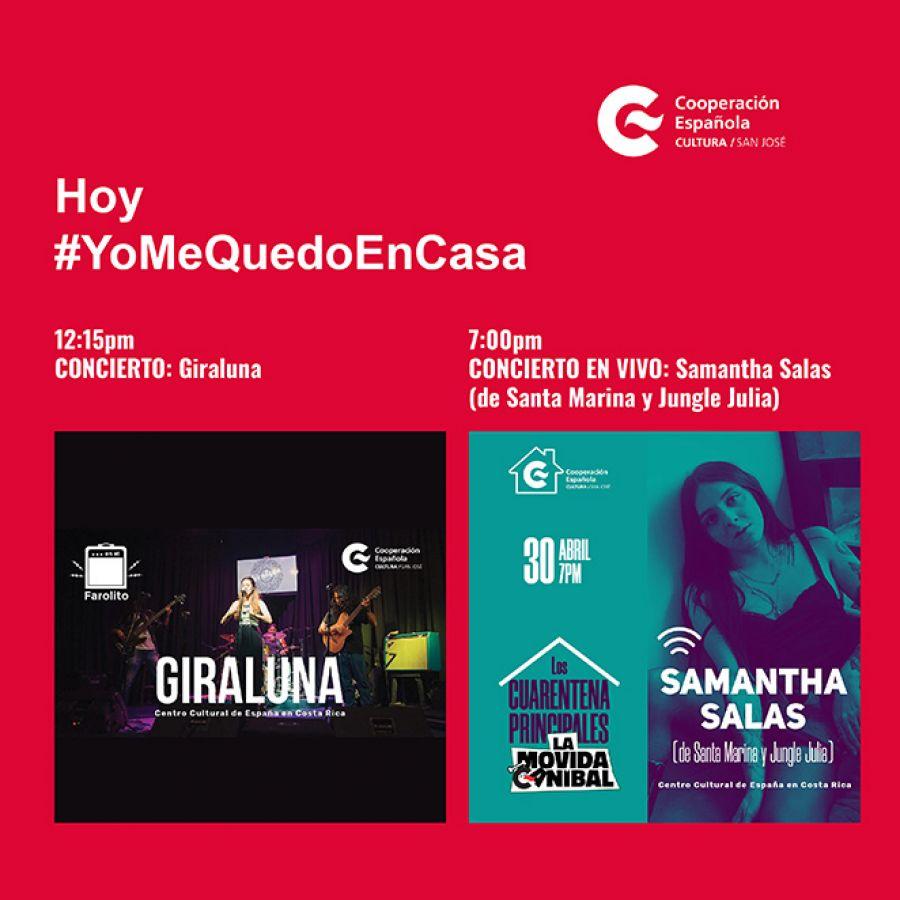 Concierto. Giraluna & Concierto en vivo. Samantha Salas.