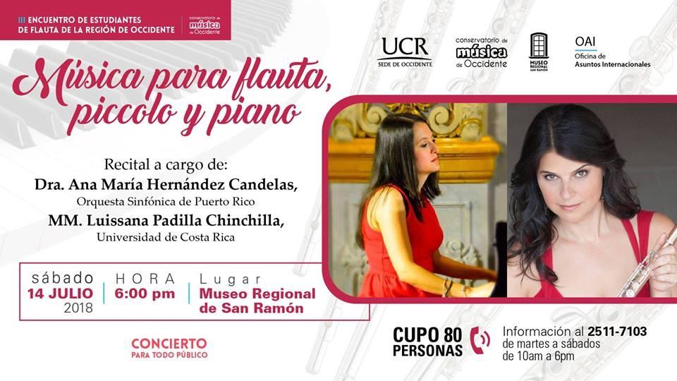 Recital Música para flauta piccolo y piano