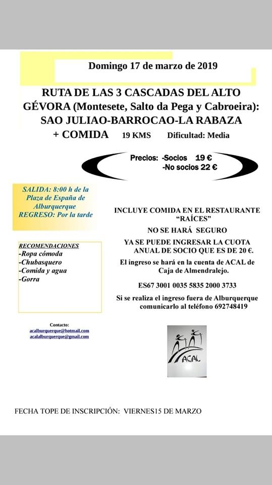 RUTA DE LAS 3 CASCADAS DEL ALTO GÉVORA