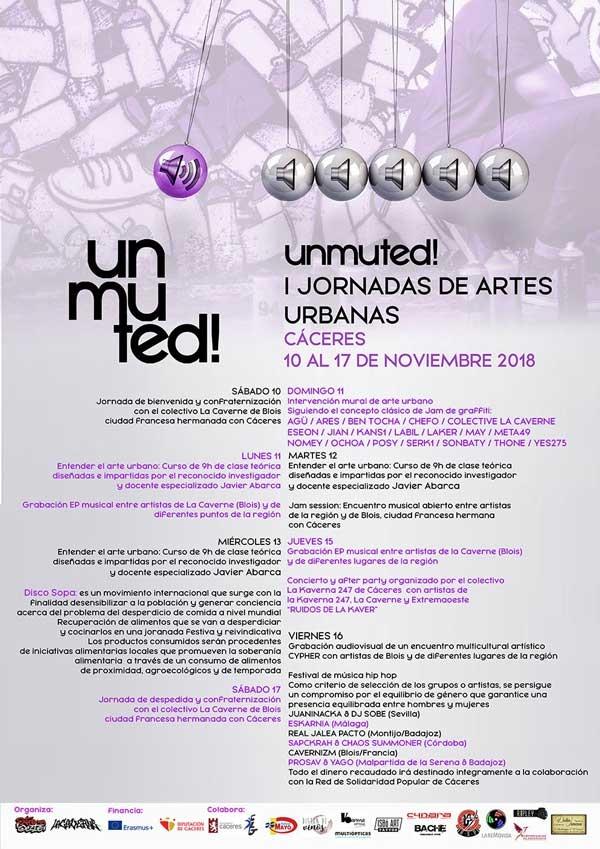 UNMUTED! | 1 Jornadas de Arte Urbano