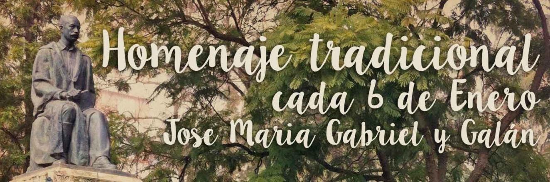 Tradicional homenaje a José María Gabriel y Galán