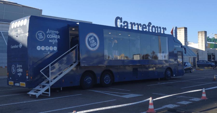 Caravana de acciones para comer mejor de Carrefour