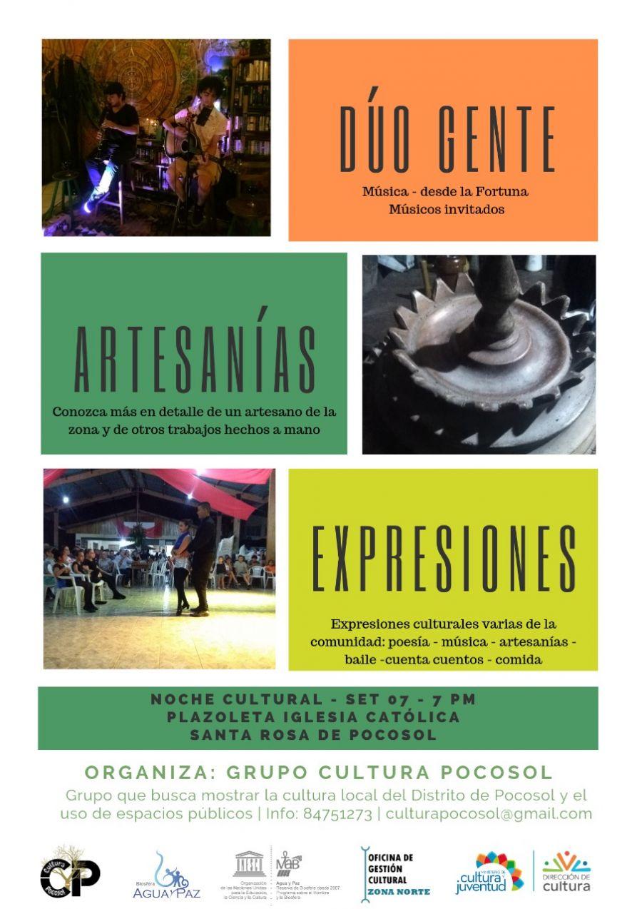 Festival cultural. Artesanías, canto, teatro, poesía