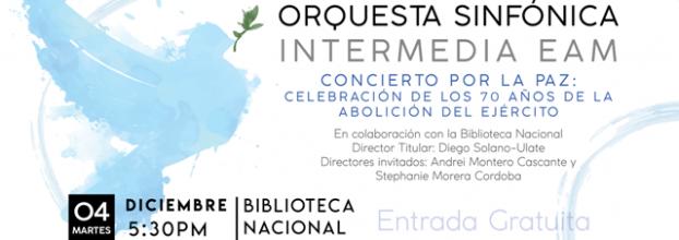 Concierto por la Paz. Orquesta Sinfónica Intermedia de la EAM