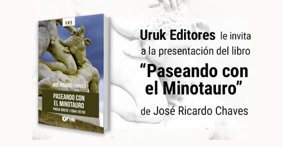 Paseando con el Minotauro. José Ricardo Chaves. Presentación de libro