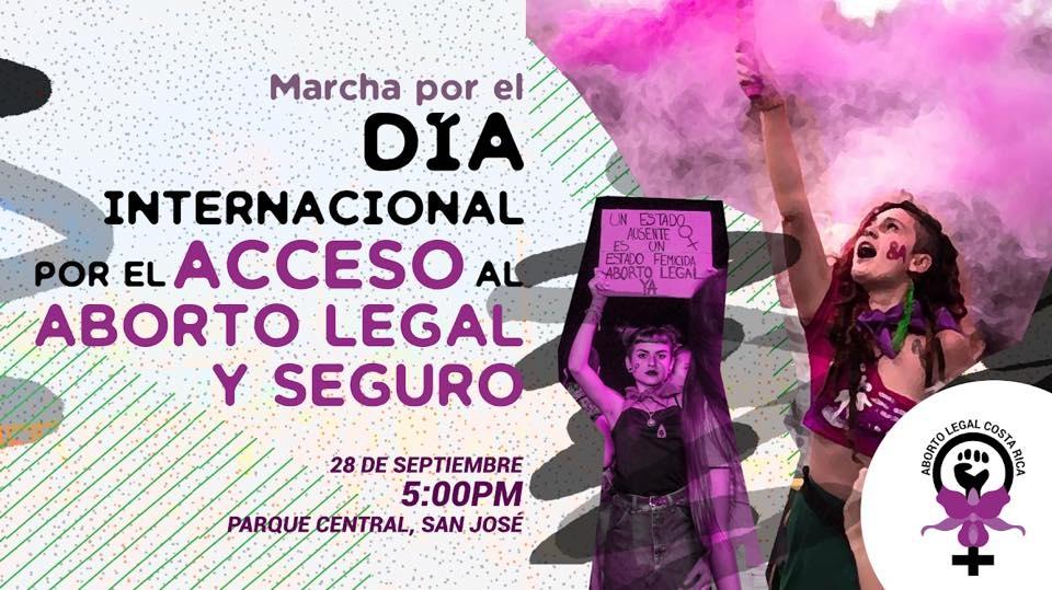 Acceso al aborto legal y seguro. Aborto legal Costa Rica. Marcha