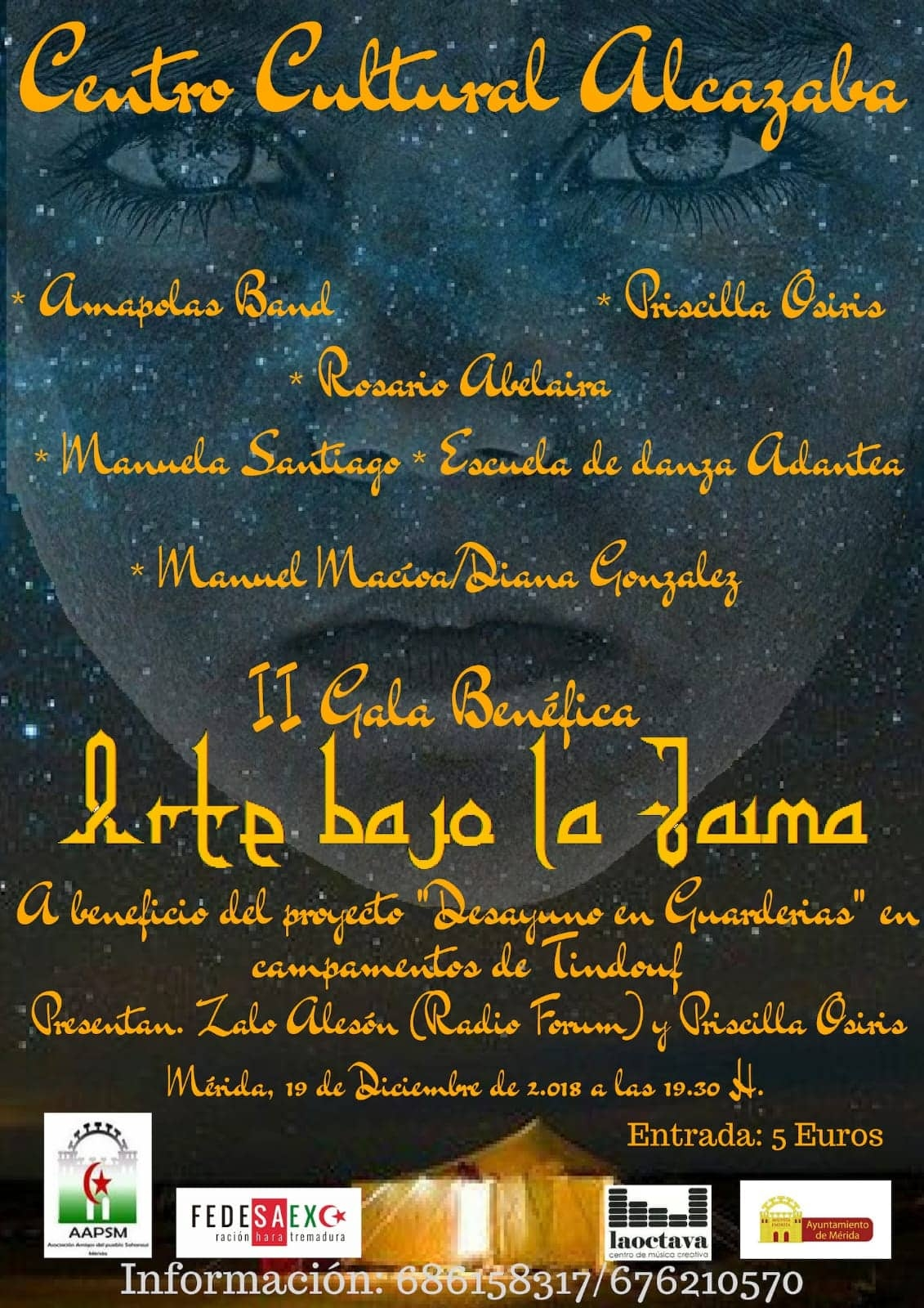 II Gala benéfica: Arte bajo la Jaima