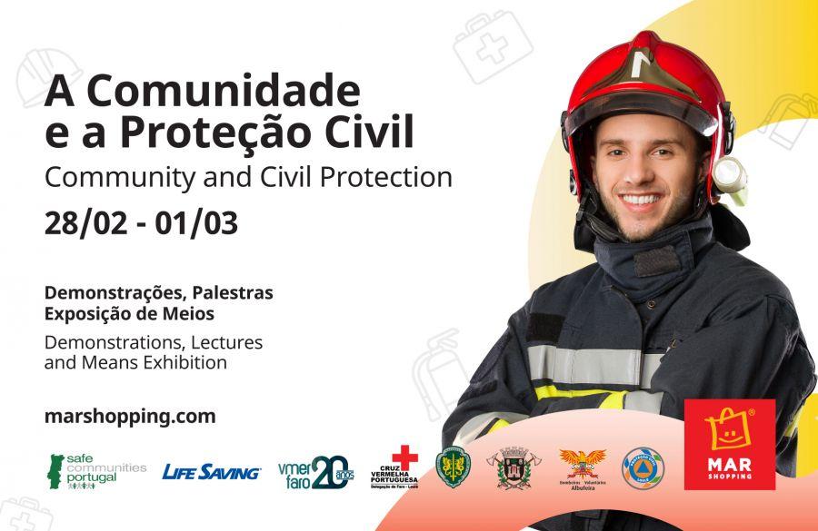 Iniciativa de sensibilização junta Bombeiros, GNR e Proteção Civil no MAR Shopping Algarve