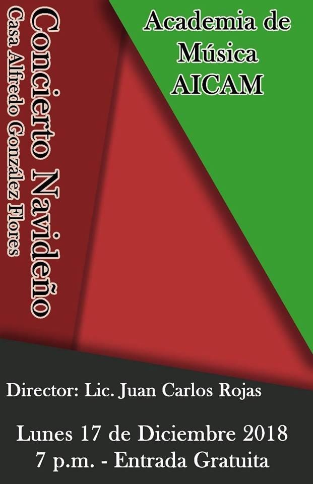 Concierto navideño. Academia de música AICAM