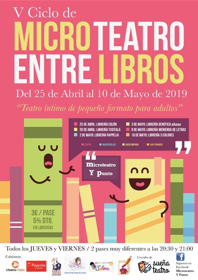 V CICLO DE MICROTEATRO ENTRE LIBROS / Librería Merienda de Letras