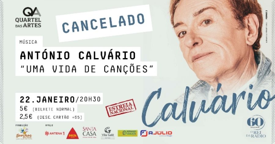 António Calvário - 'uma vida de canções'