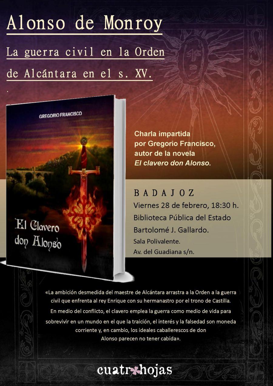 Presentación novela 'El clavero don Alonso'