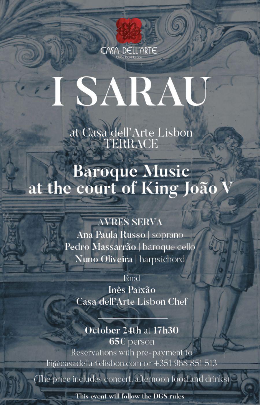 I Sarau de Musica Barroca e Gastronomia na Casa dell'Arte