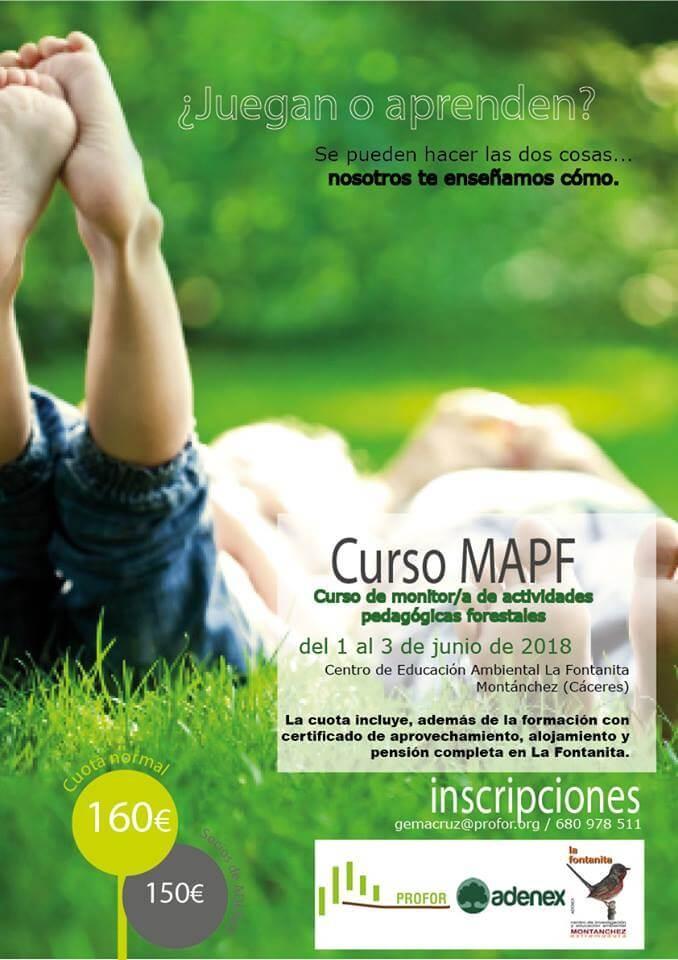 Curso de monitor/a de actividades pedagógicas forestales