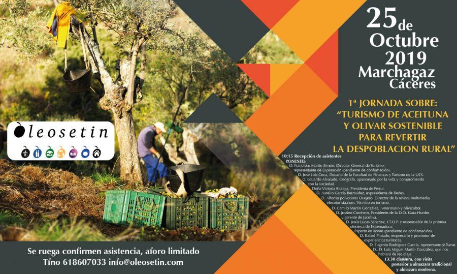1º Jornadas sobre: Turismo de aceituna y olivar sostenible para revertir la despoblación rural.