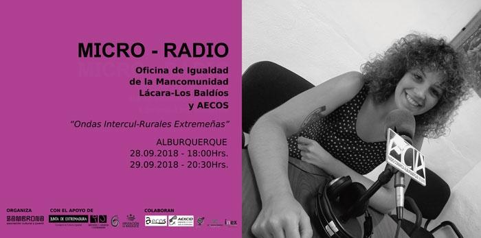 MICRO-RADIO con Aecos y la Oficina de Igualdad de la Mancomunidad Lácara-Los Baldíos.