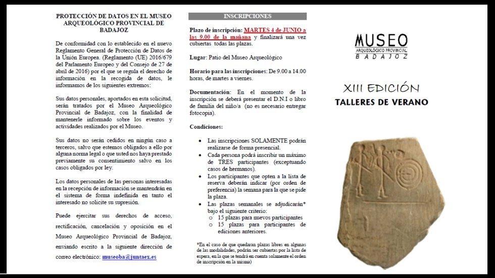 Talleres de verano en el Museo Arqueológico de Badajoz