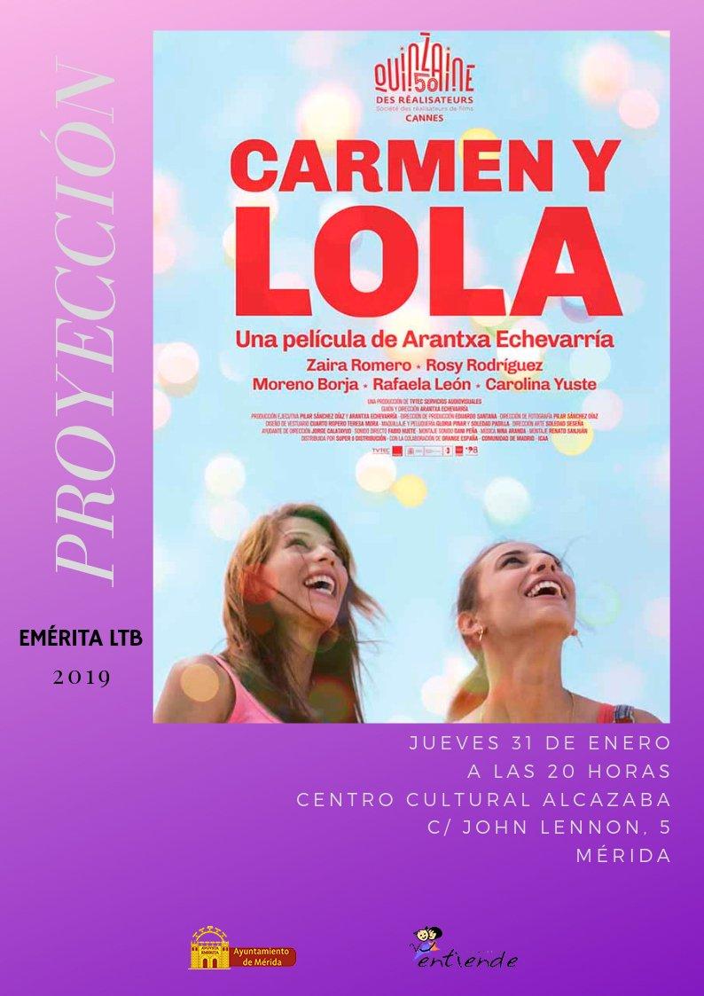 "Cine: ""Carmen y Lola"""