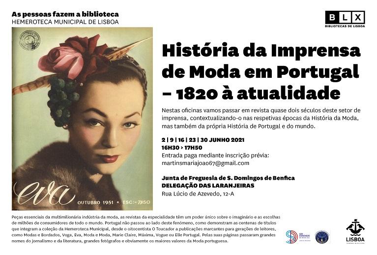 Oficina História da Imprensa de Moda em Portugal (De 1820 à atualidade)
