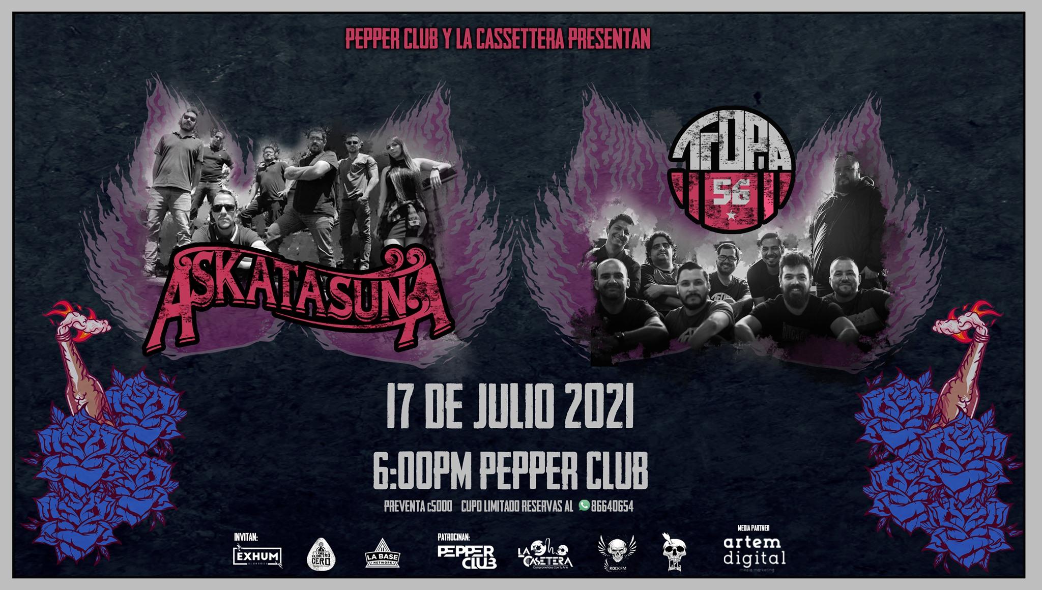 ¡Algo de Ska! Askatasuna & Tropa 56 en Pepper Club