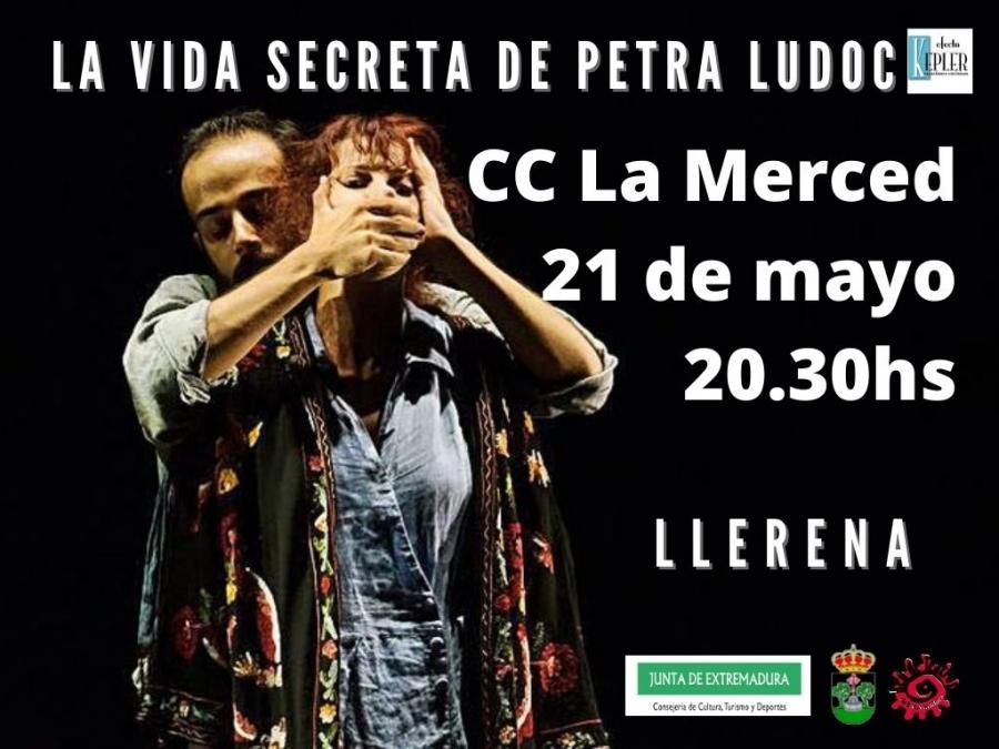 """Representación teatral de """"La vida secreta de Petra Ludoc"""""""