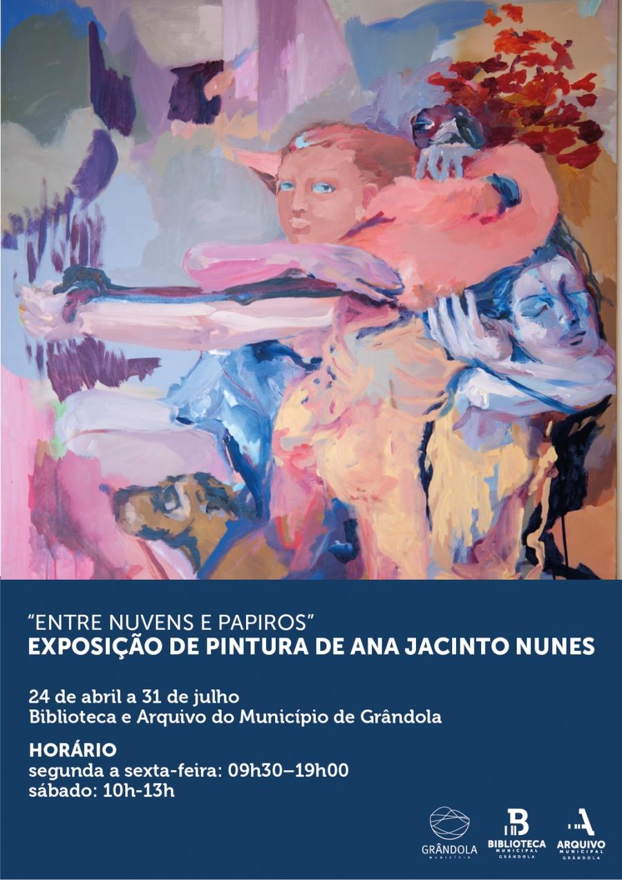 'Entre Nuvens e Papiros' Exposição de pintura de Ana Jacinto Nunes