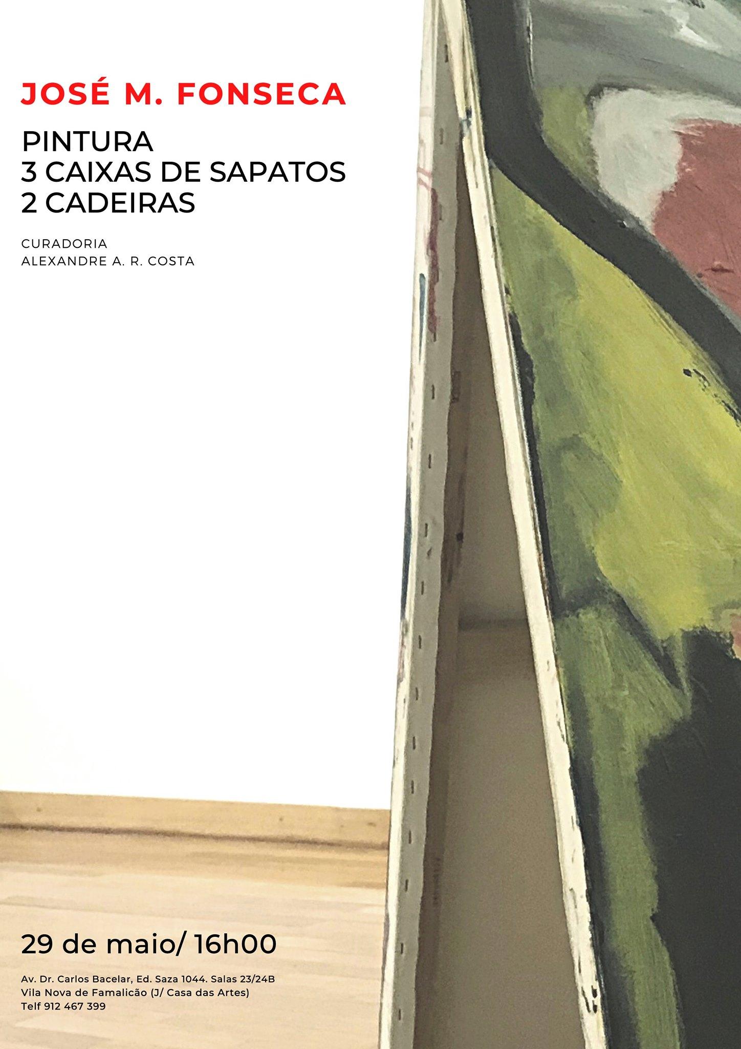 PINTURA 3 CAIXAS DE SAPATOS 2 CADEIRAS