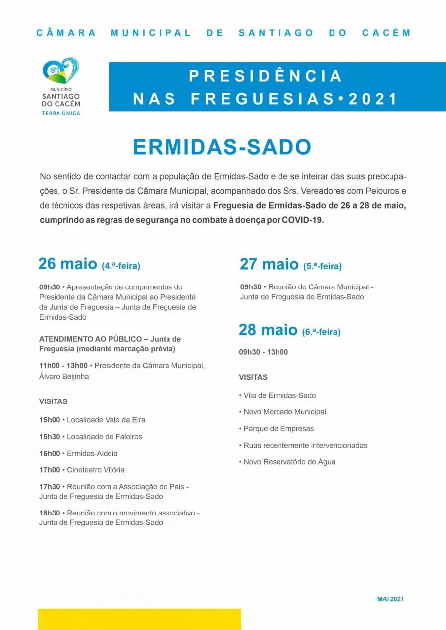Presidência nas Freguesias 2021 – Ermidas-Sado