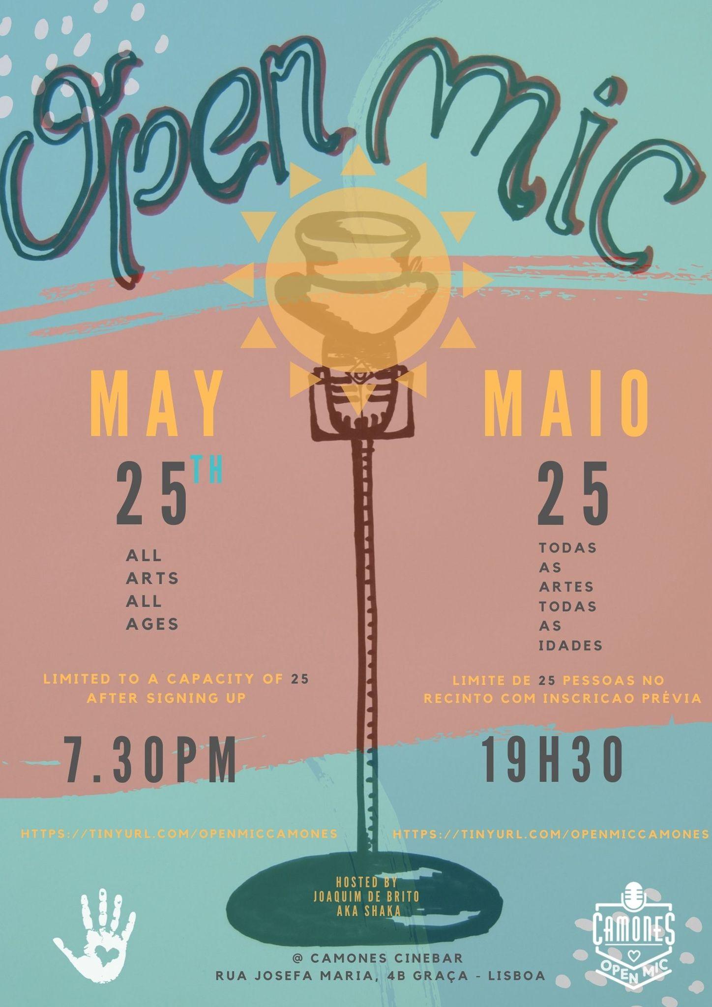 Open Mic - 68ª edição - All Arts, All Ages