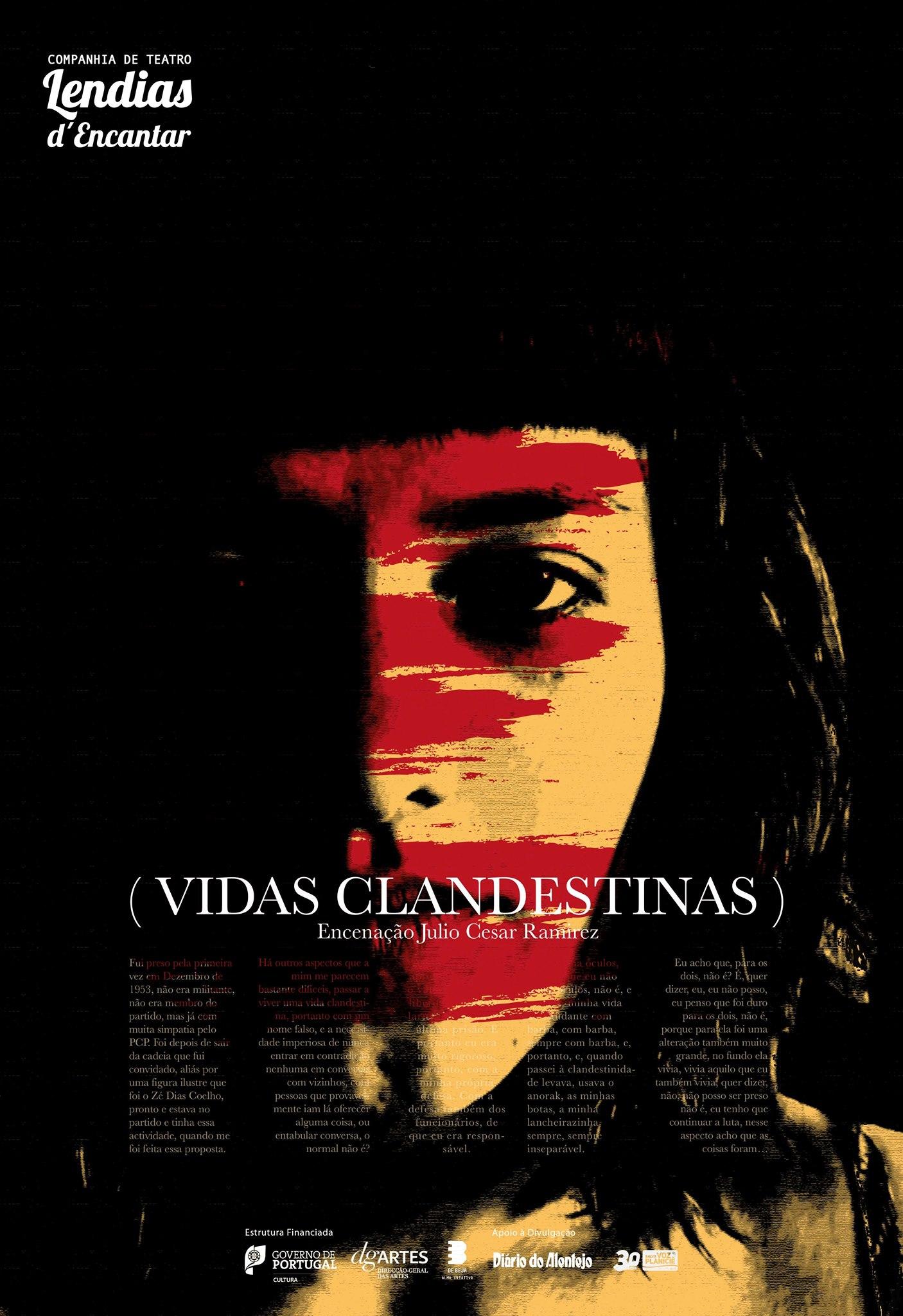Vidas Clandestinas - TEmporada TEatral na Póvoa de Varzim
