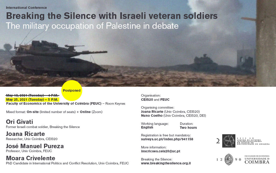 International Conference BREAKING THE SILENCE WITH ISRAELI VETERAN SOLDIERS