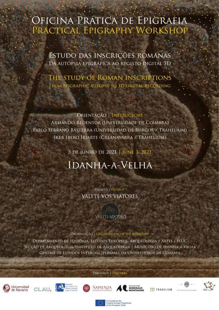 """Oficina Prática de Epigrafia: """"Estudo das Inscrições Romanas. Da Autópsia Epigráfica ao Registo Digital 3D"""""""