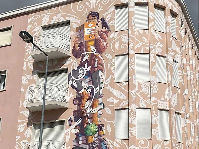 Arte Urbana: Pintura de mural por Mário Belém