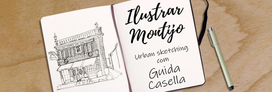 Ilustrar Montijo   Desenho em cadernos com Guida Casella