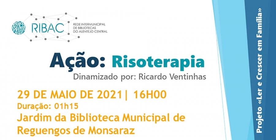 Risoterapia no Jardim da Biblioteca Municipal de Reguengos de Monsaraz