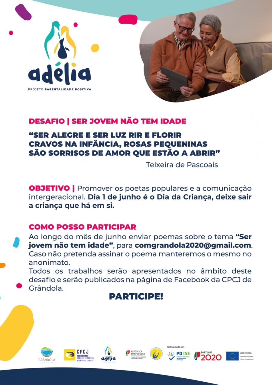 """Projeto Adélia  - """"Ser jovem não tem idade"""""""