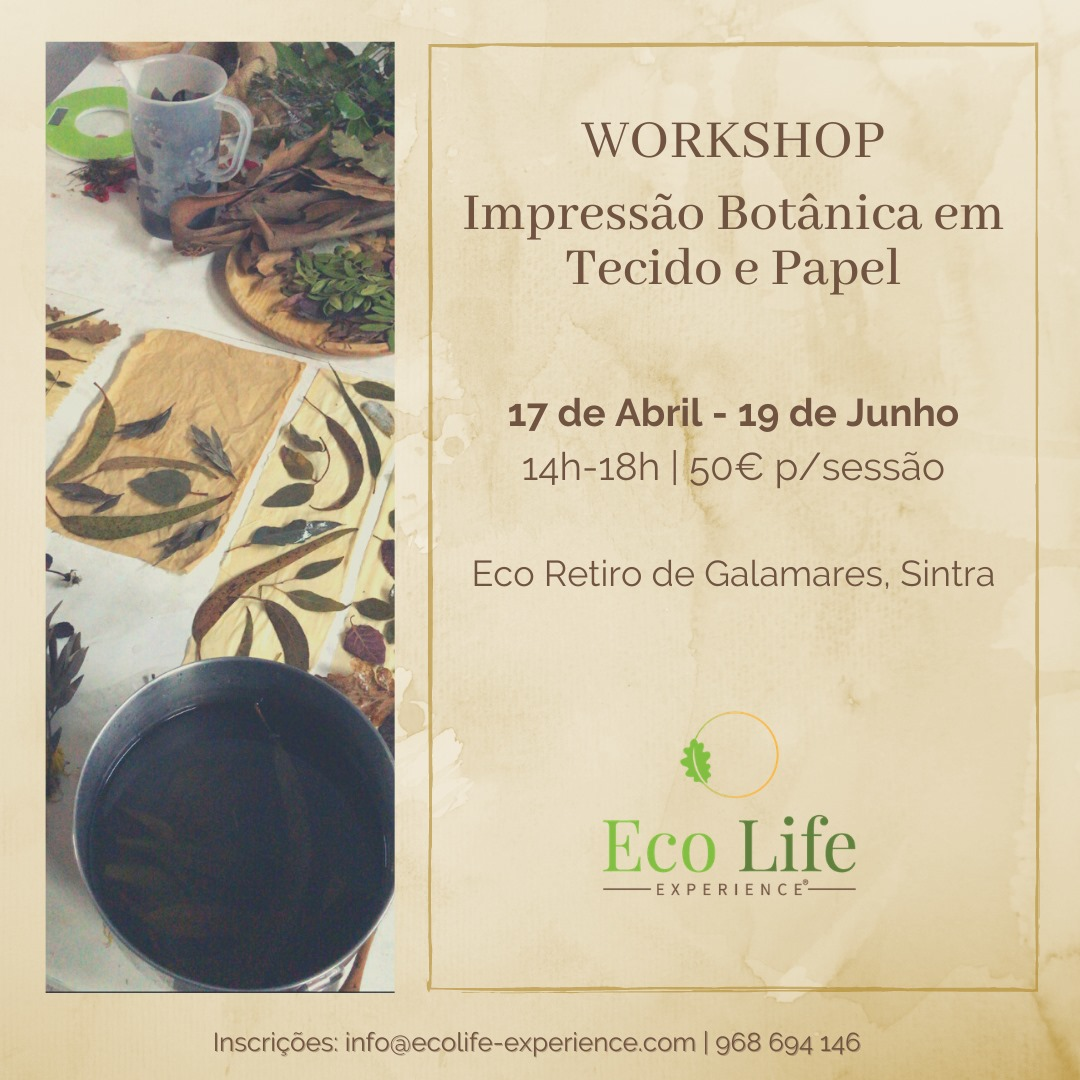 Workshop Impressão Botânica em Tecido e Papel