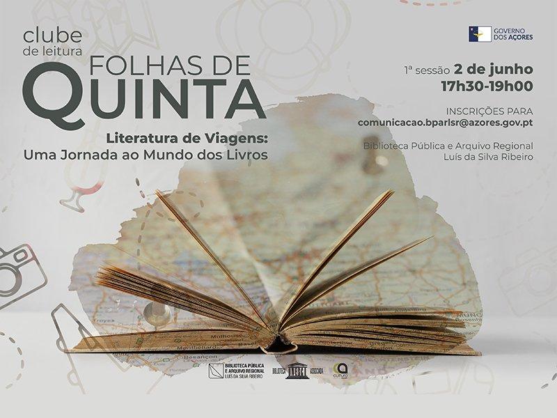 """Clube de Leitura """"Folhas de Quinta"""" dedica junho à  """"Literatura de Viagens: Uma Jornada ao Mundo dos Livros"""""""