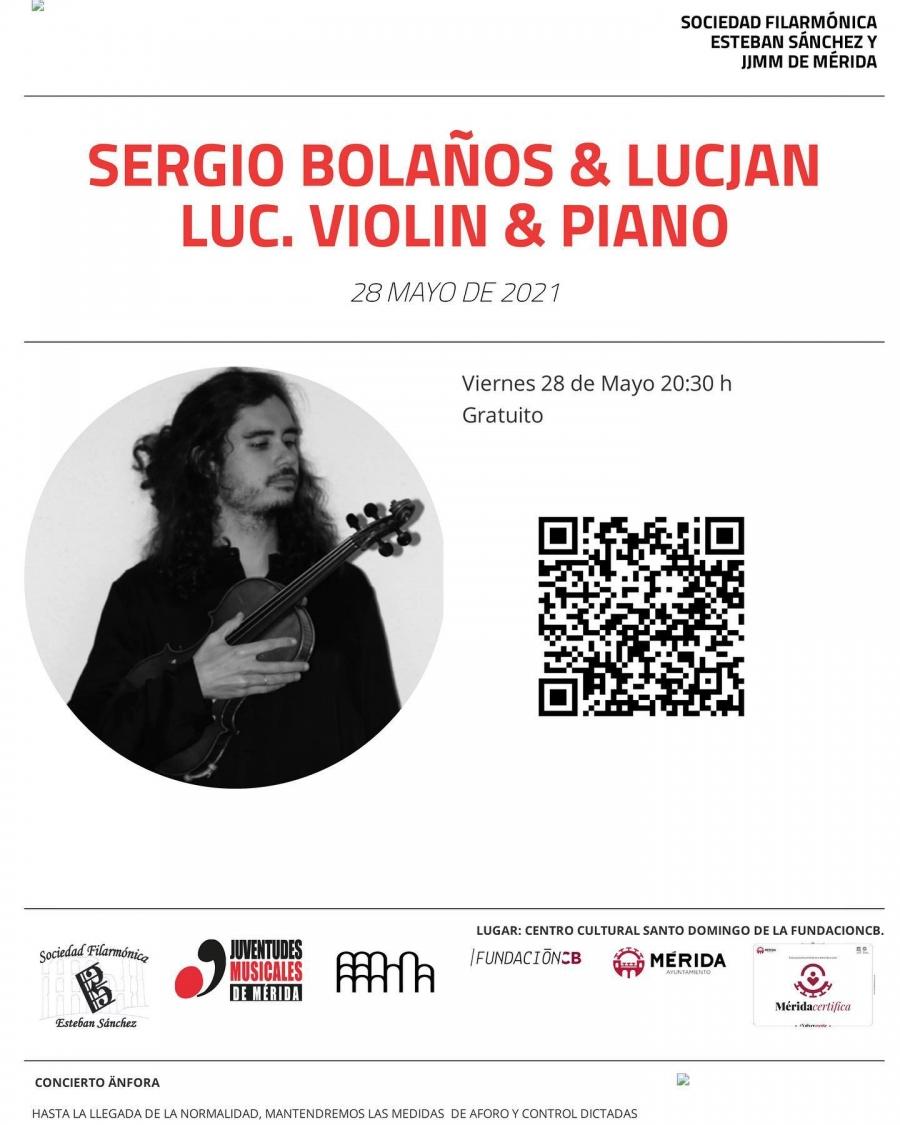 Recital de Violín (Sergio Bolaños) y Piano (Lucjan Luc.)