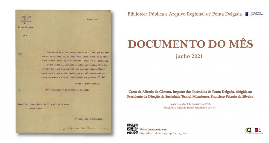 Documento do mês - Biblioteca Pública e Arquivo Regional de Ponta Delgada
