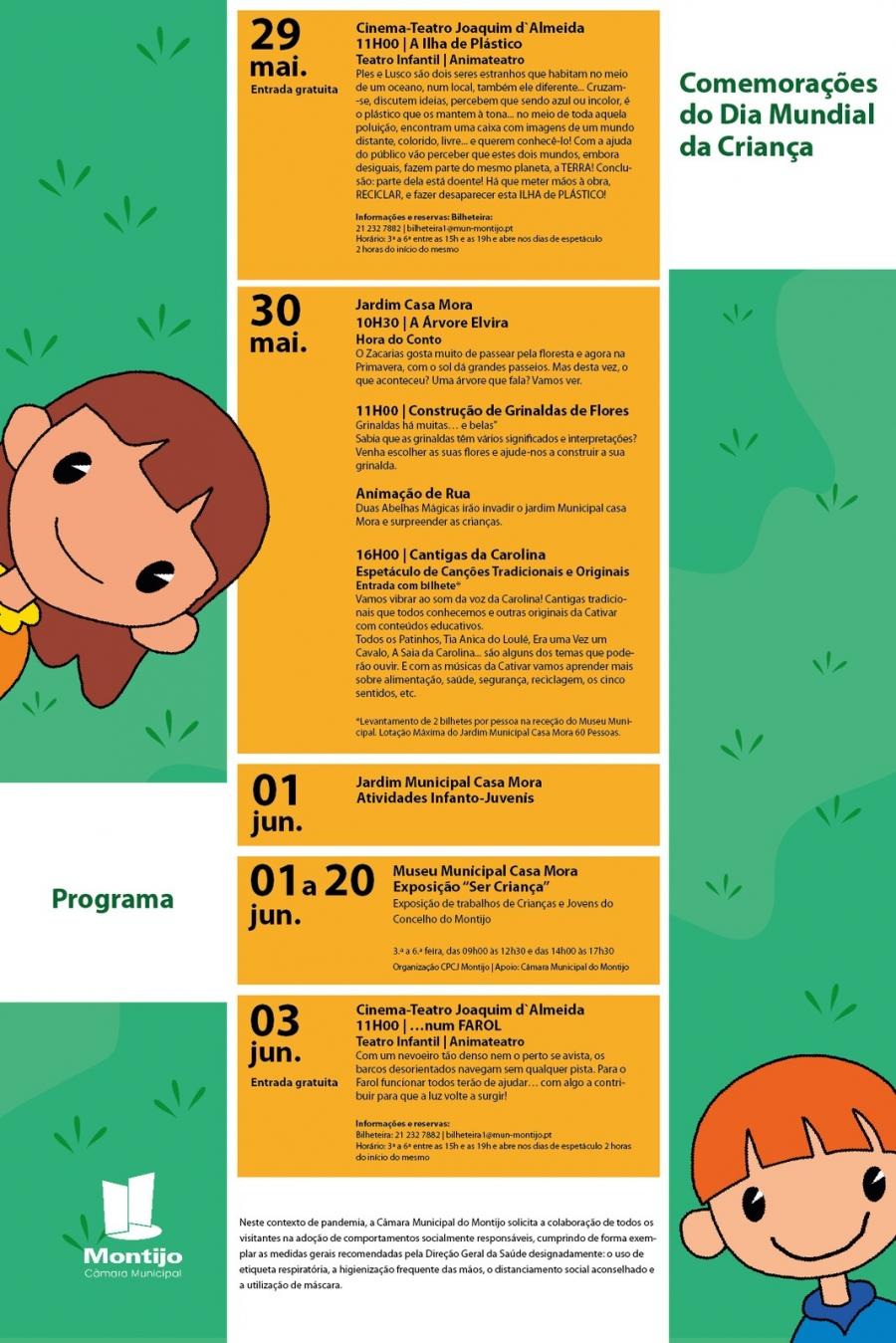 Comemorações do Dia Mundial da Criança // Programação Infantil
