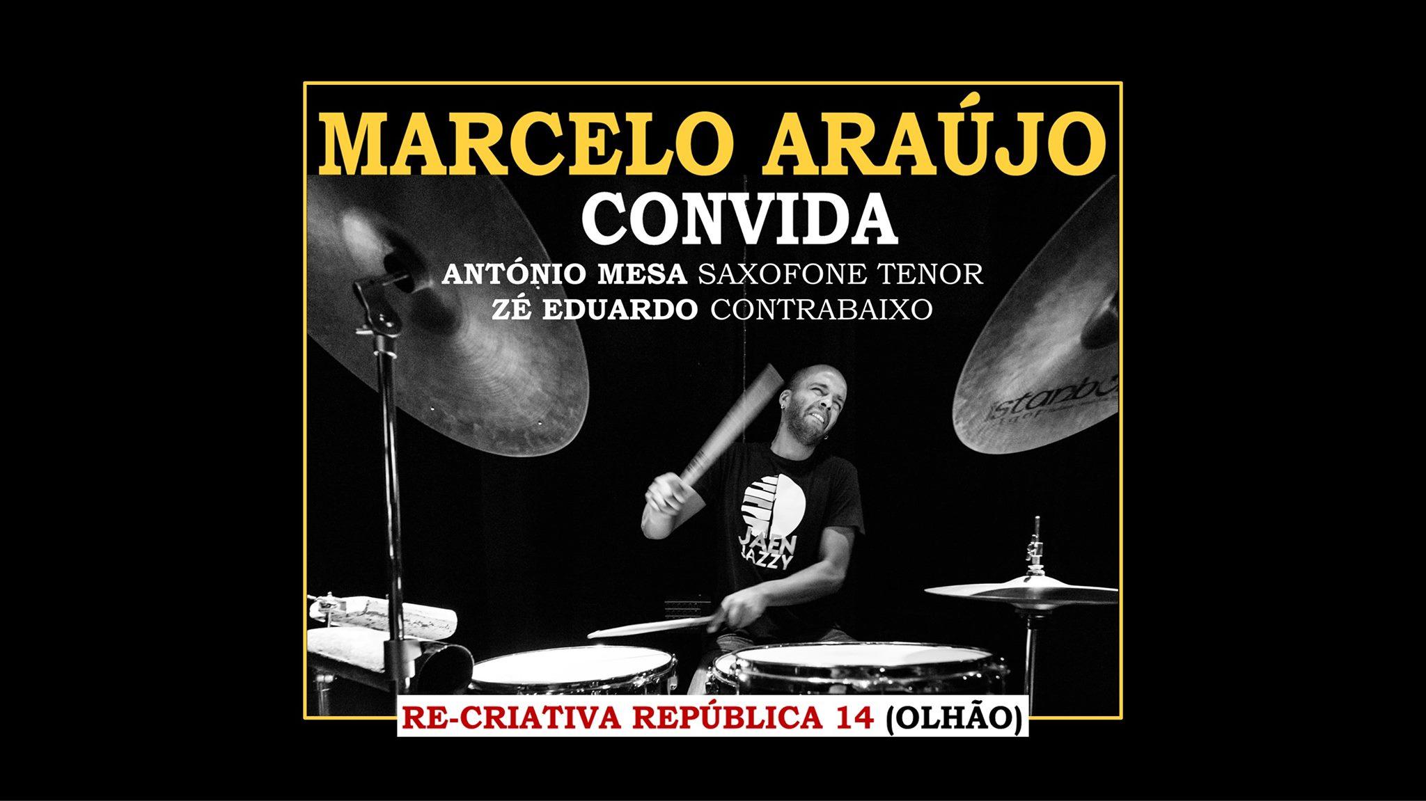 Marcelo Araújo convida António Mesa, saxofone e flauta e José Eduardo contrabaixo.