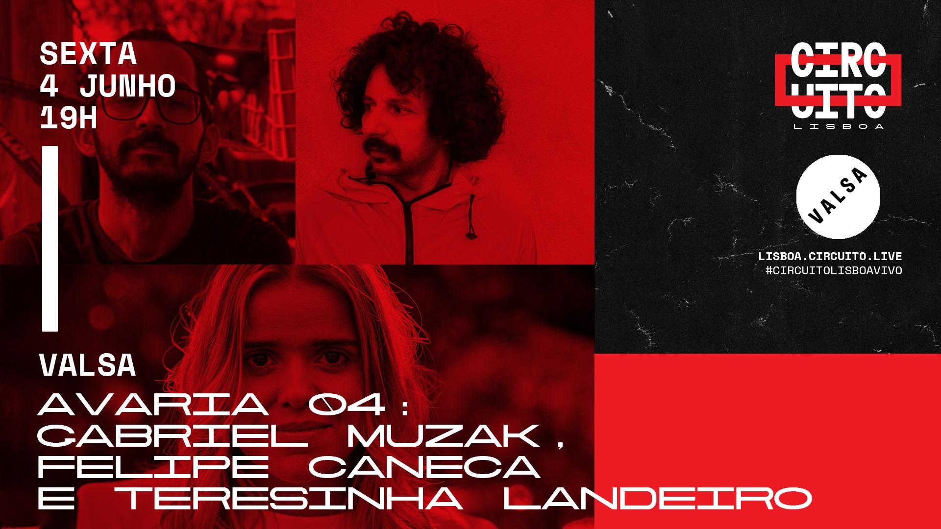 AVARIA04   GABRIEL MUZAK, FELIPE CANECA E TERESINHA LANDEIRO