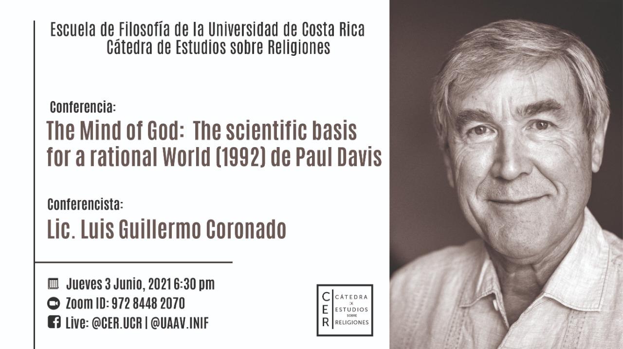 Conferencia: Lic. Guillermo Coronado. The Mind of God (1992) de Paul Davis