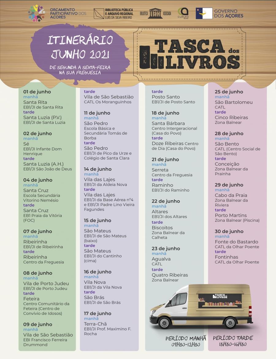 Tasca dos Livros | Itinerário de junho