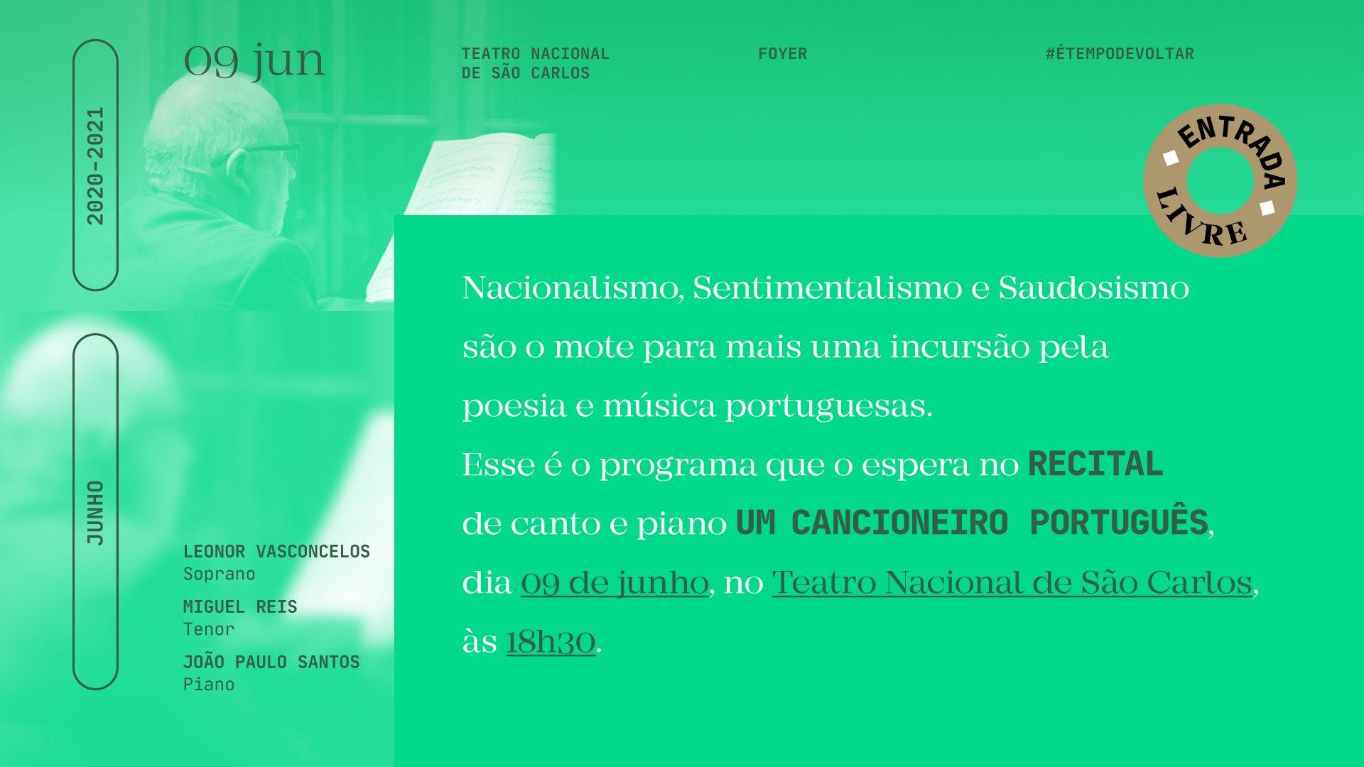 Recital de Canto e Piano — Um Cancioneiro Português V
