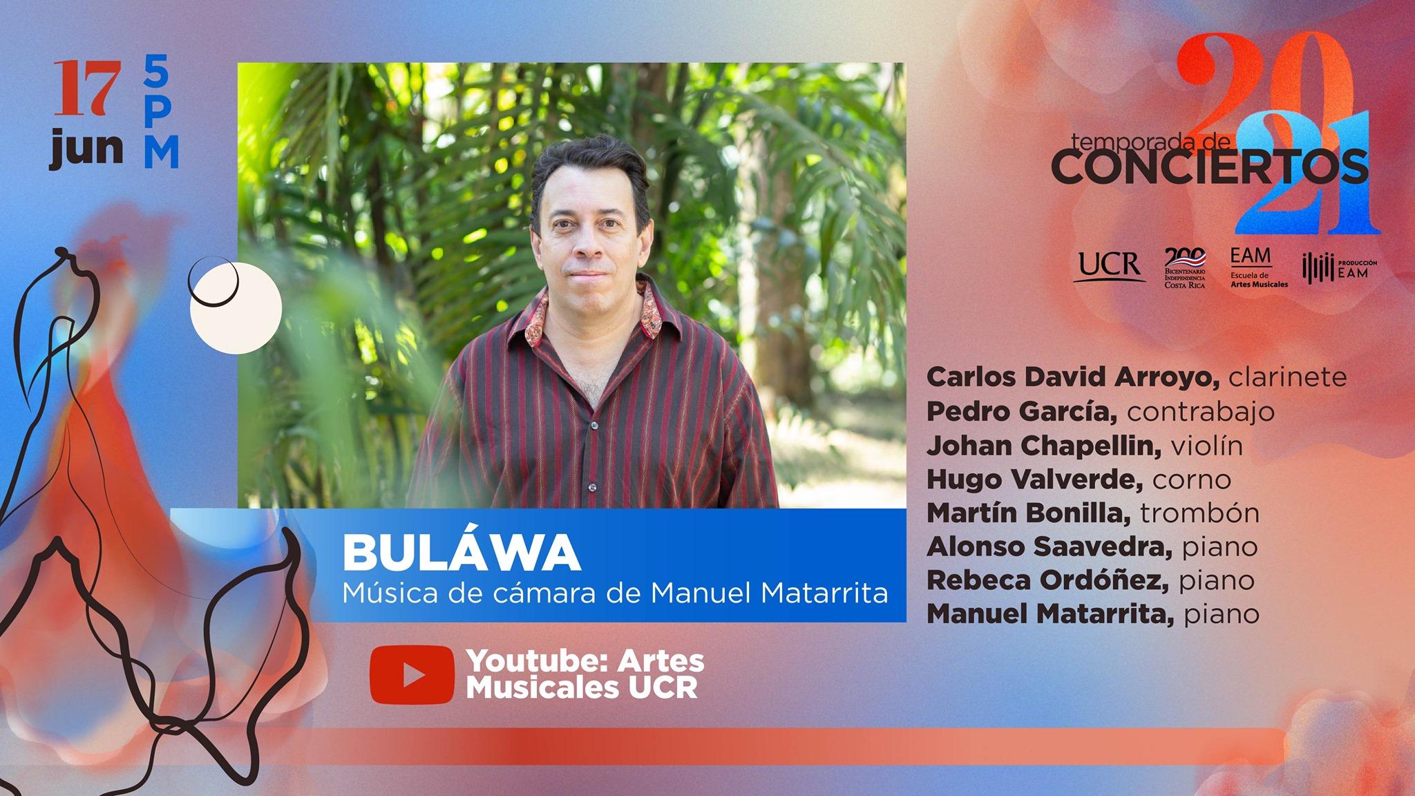 BULÁWA – Música de cámara de Manuel Matarrita